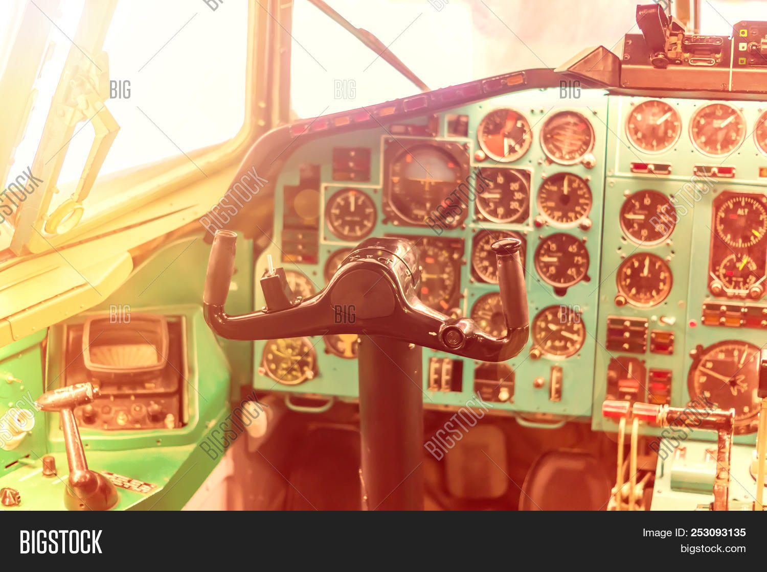 Pilot Seat Old Plane  Image & Photo (Free Trial) | Bigstock