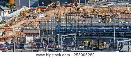 Gosford, Australia - May 18. 2018: Construction And Building Progress On Gosford Hospital Facilities