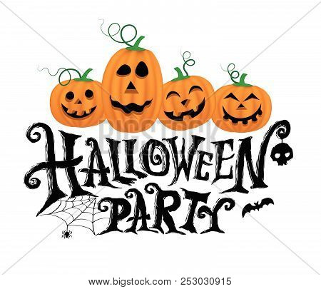 Pumpkins With Halloween Party