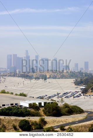 Los Angeles Downtown Skyline Vertical Panoramic