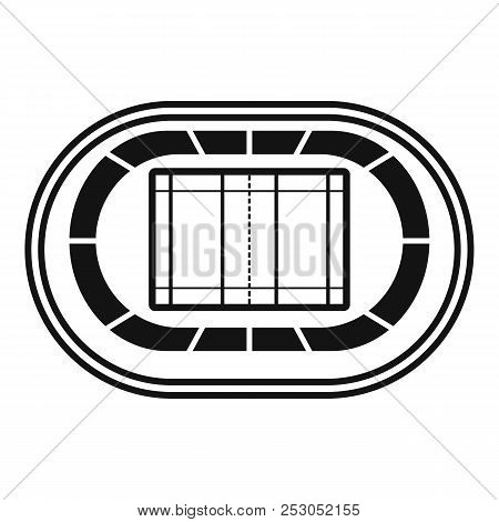 Top Volleyball Arena Icon. Simple Illustration Of Top Volleyball Arena Icon For Web Design Isolated