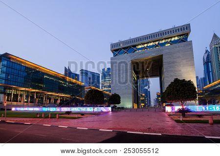 Dubai -may 11:the Gate - Main Building Of Dubai International Financial Center, The Fastest Growing