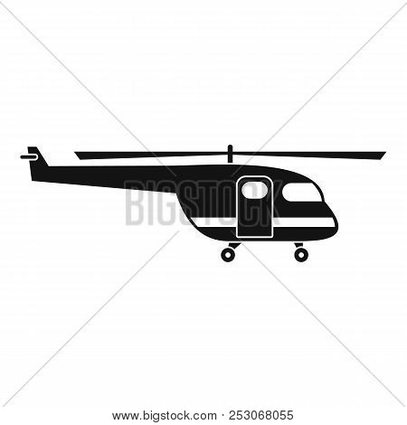 Rescue Helicopter Icon. Simple Illustration Of Rescue Helicopter Icon For Web Design Isolated On Whi
