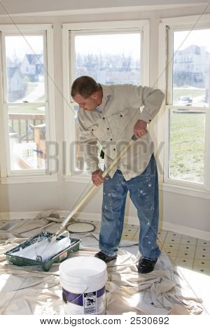 Painter Rolling Walls