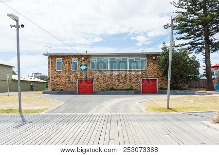 Melbourne, Australia - February 18, 2018: Clubhouse Of The Elwood Angling Club On The Foreshore Of E