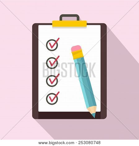 To Do List Icon. Flat Illustration Of To Do List Icon For Web Design