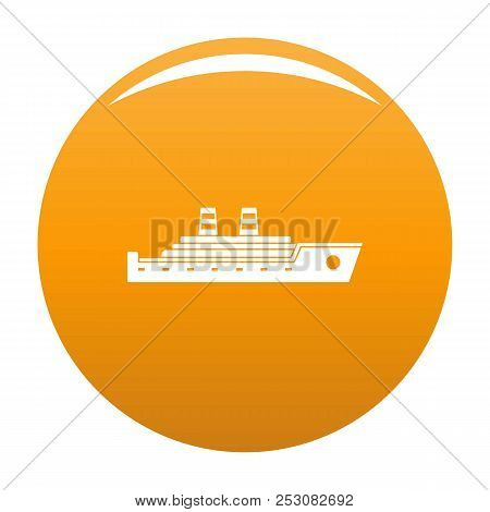 Ship Passenger Icon. Simple Illustration Of Ship Passenger Icon For Any Design Orange
