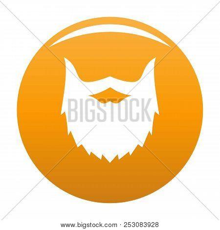 Villainous Beard Icon. Simple Illustration Of Villainous Beard Icon For Any Design Orange