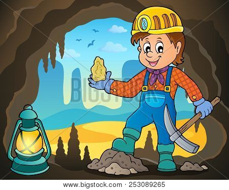 Miner Theme Image 4 - Eps10 Vector Picture Illustration.