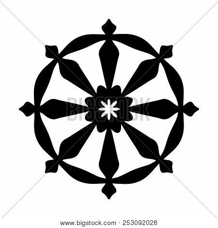 The Wheel Of Samsara - Oriental Sacral Religious Symbol Of Reincarnation: The Cycle Of Death And Reb