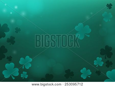 Three Leaf Clover Abstract Background 4 - Eps10 Vector Picture Illustration.