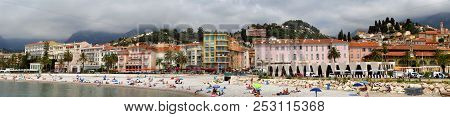 Menton - Beach And A Panoramic View Of The City
