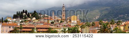Menton - Panoramic View On Old Town