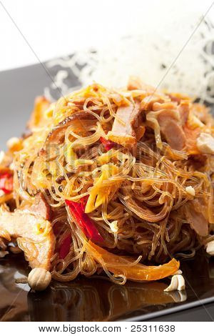 Pork with Rice Noodles and Vegetables