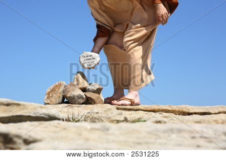 Him Who Is Without Sin Cast The First Stone John 8:2-11