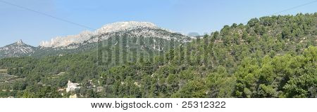 Forest and hills of the Dentelles de Montmirail near in Provence France poster