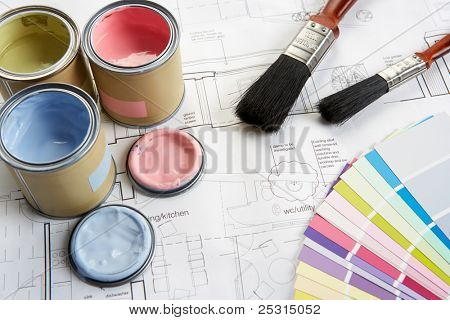 poster of Decorating tools and materials