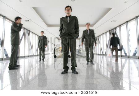 Identical Men On Footbrige 2
