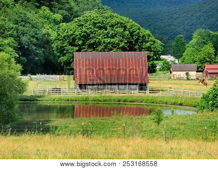 Arkansas Backroad And Barn
