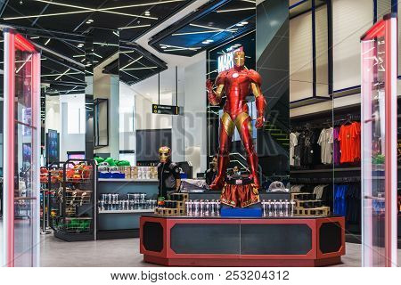 Bangkok, Thailand - August 11, 2018. - Shop At The Marvel Experience Superstore In Bangkok Thailand.
