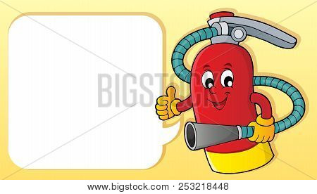 Fire Extinguisher Topic Image 2 - Eps10 Vector Picture Illustration.