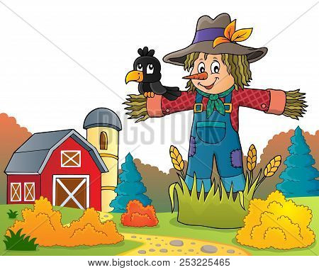 Scarecrow Theme Image 6 - Eps10 Vector Picture Illustration.