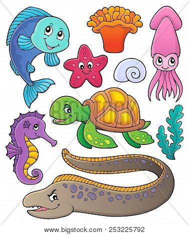 Sea Life Theme Collection 1 - Eps10 Vector Picture Illustration.