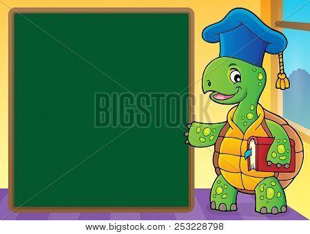 Turtle Teacher Theme Image 5 - Eps10 Vector Picture Illustration.