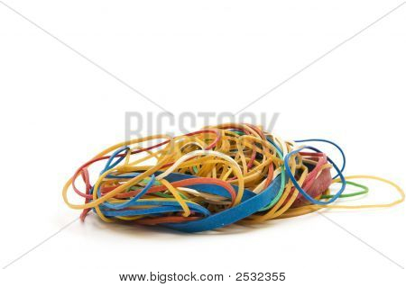 Pile Of Rubber Bands.
