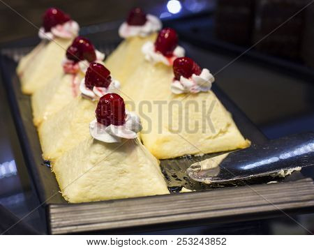 Curd Cakes With Fresh Strawberries On A Tray
