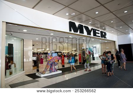 Perth, Australia - February 3, 2018: Myer Is A Popular Department Store Chain Trading In Australia