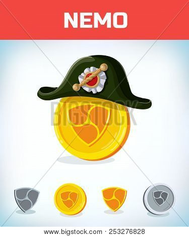 Nemo In French Napoleon Tricorn Hat. Nemo. Digital Currency. Crypto Currency. Money And Finance Symb