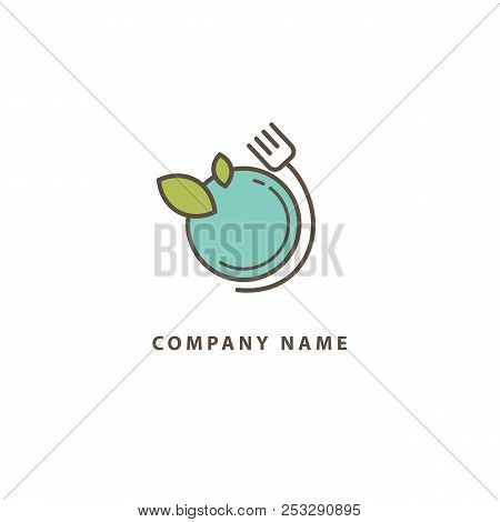 Abstract Food Logo Icon Vector Design. Recipe, Cooking, Course, Cafe, Restaurant, Fast Food Vector L