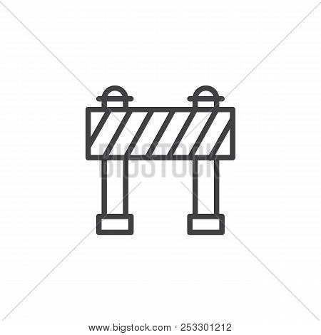 Barrier Outline Icon. Linear Style Sign For Mobile Concept And Web Design. Security, Hurdle Simple L