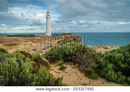 Cape Nelson State Park And Its Lighthouse In The Summer