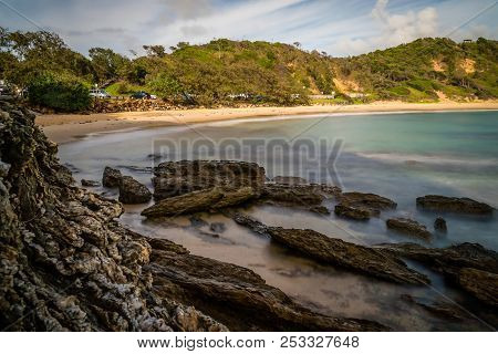 Shelly Beach In Nambucca Heads In The Morning, Long Exposure Shot