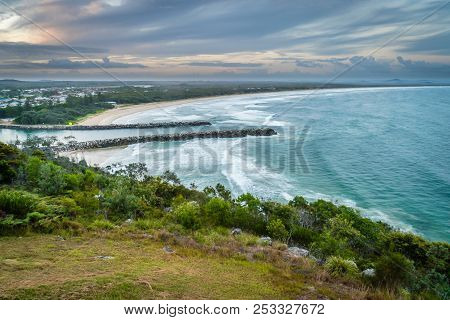 Evans Head At Sunset In Australia In The Summer