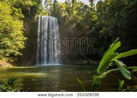 Millaa Milla Falls In The Summer In Queensland, Australia