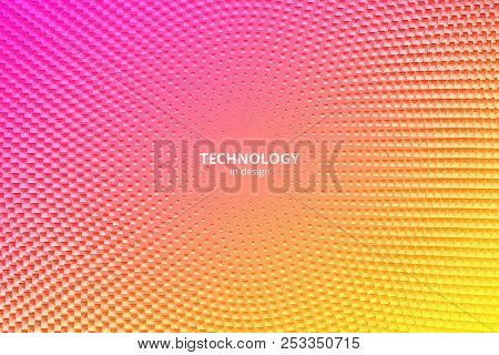Minimal Design Background. Vector Colorful Halftone Gradients. Futuristic Geometric Patterns. Vector