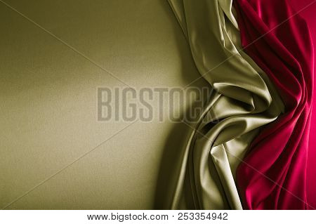 Silver And Wine Red Satin.
