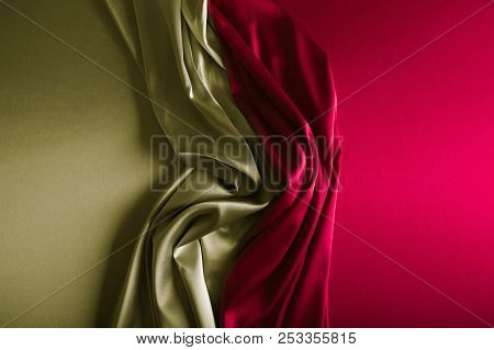 Silver And Wine Red Satin