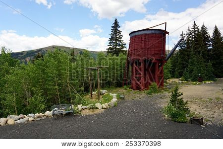Leadville, Colorado, Usa - July 18, 2014 - French Gulch Water Tank Visited On The Colorado And South