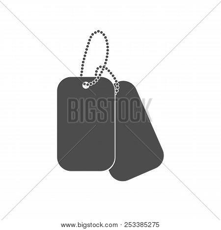 Dogtag Personal Id Sign Illustration. Dog Tag Identification Mark