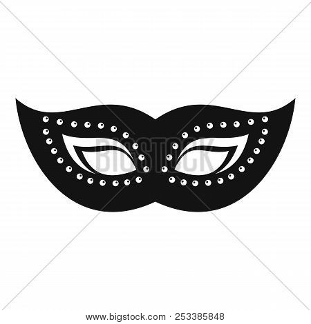 Elegant Mask Icon. Simple Illustration Of Elegant Mask Icon For Web Design Isolated On White Backgro