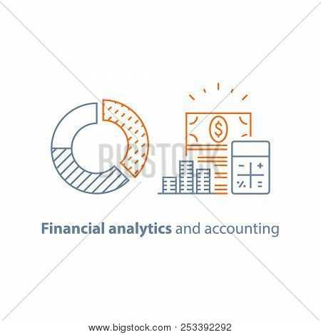 Round Diagram, Income Increase, Financial Performance Analytics, Long Term Investment, Fund Manageme