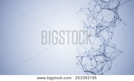 Abstract Connecting Dots And Lines. Technology Background. Global Network Connection.