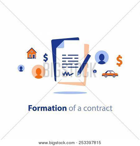 Contract Creation Service, Document Formation, Application Form Composition, Obligation Concept, Las