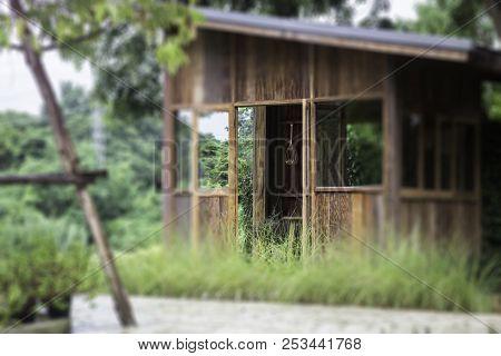 Eco Friendly Suburban Street Cottage, Stock Photo