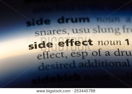 Side Effect Word In A Dictionary. Side Effect Concept.