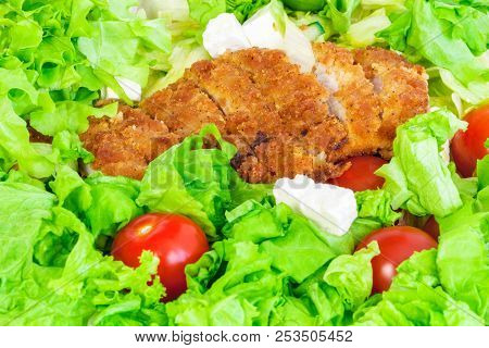 Vegetables with chicken Nutrient rich food cocept poster